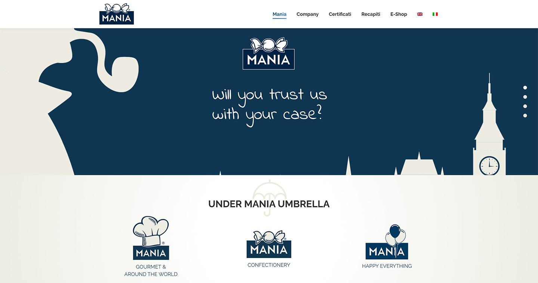 Creazione sito web Mania Srl